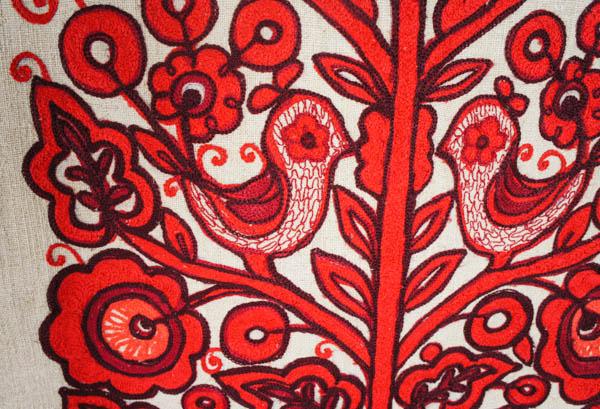 Рушник вишитий -Два птахи- - фрагмент - Галерея - Український Сувенір 0b6cc4af83a17